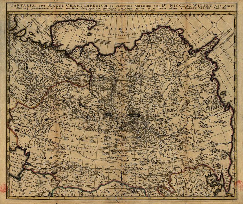 Tartaria, sive magni Chami Imperium ex credendis amplissimi viri, Amsterdam 1705 60 x 51 cm